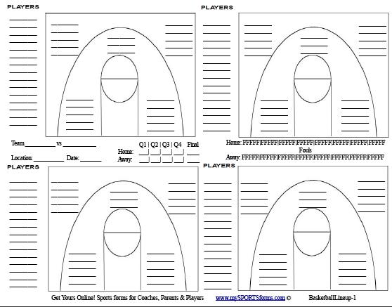 Youth Basketball Coaching   mySPORTSforms.com