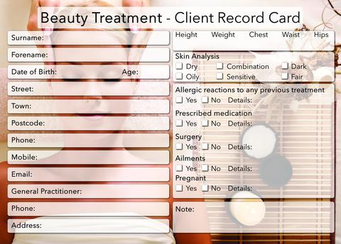 Hairdresser Customer Profile Template