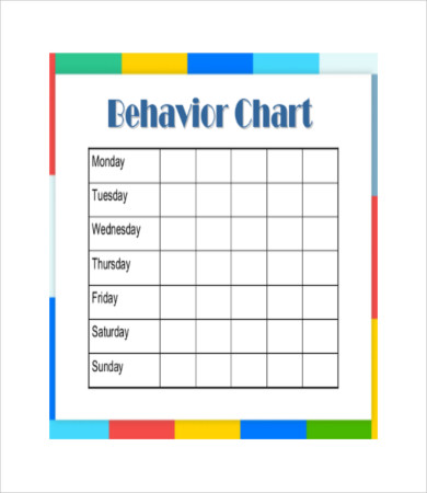 Free Printable Behavior Chart   8+ Free PDF Documents Download