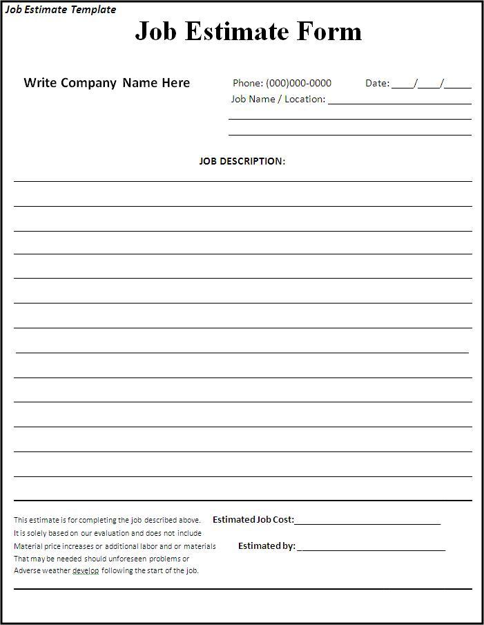 blank bid form   Ibov.jonathandedecker.com