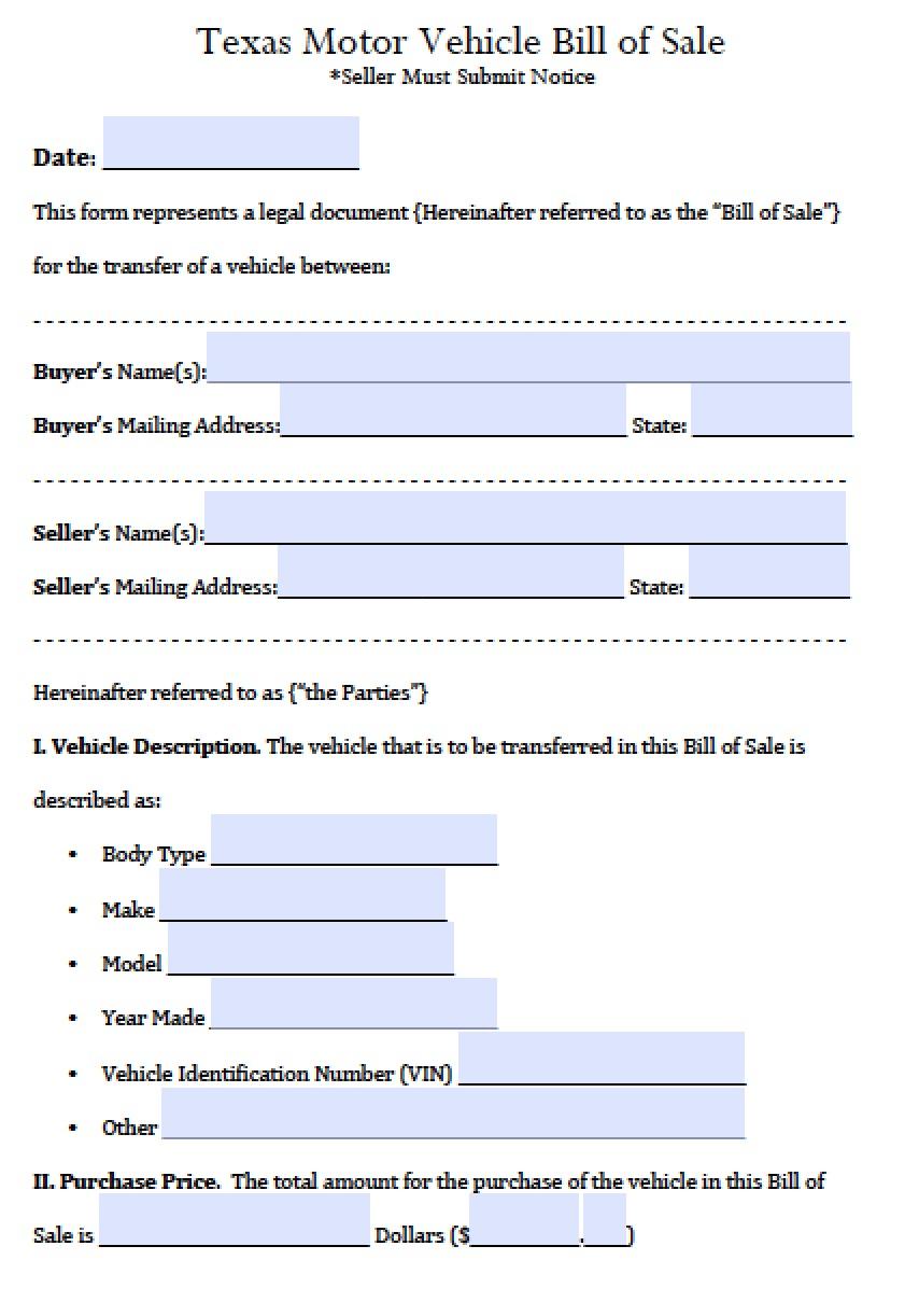tx vehicle bill of sale   Demire.agdiffusion.com