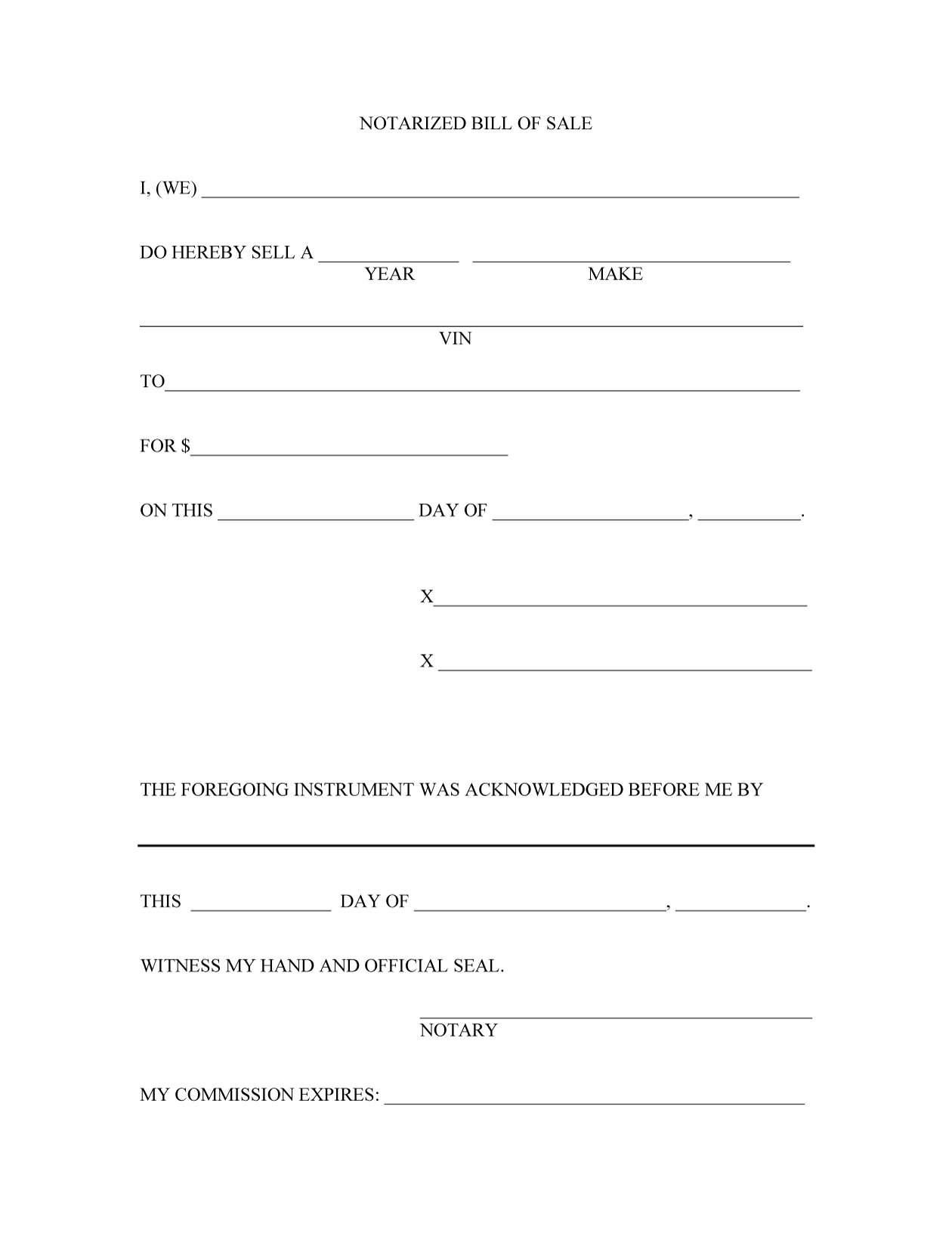 45+ Fee Printable Bill of Sale Templates (Car, Boat, Gun, Vehicle