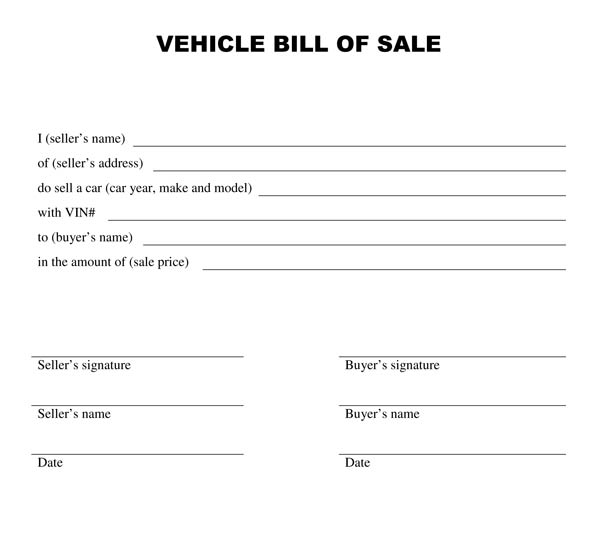 printable automobile bill of sale   Demire.agdiffusion.com