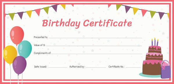 Birthday Gift Certificate Templates   16+ Free Word, PDF, PSD