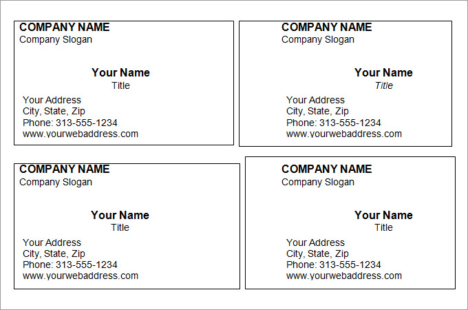 free editable printable business card templates   Demire