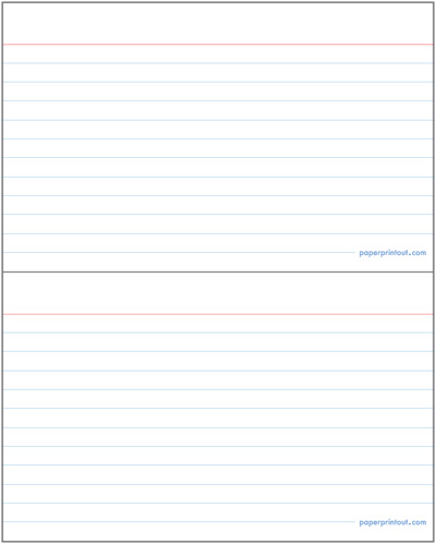 Index Cards   Download a Free Printable Index Card Template