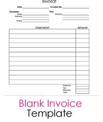 Blank Invoice Printable | BHVC
