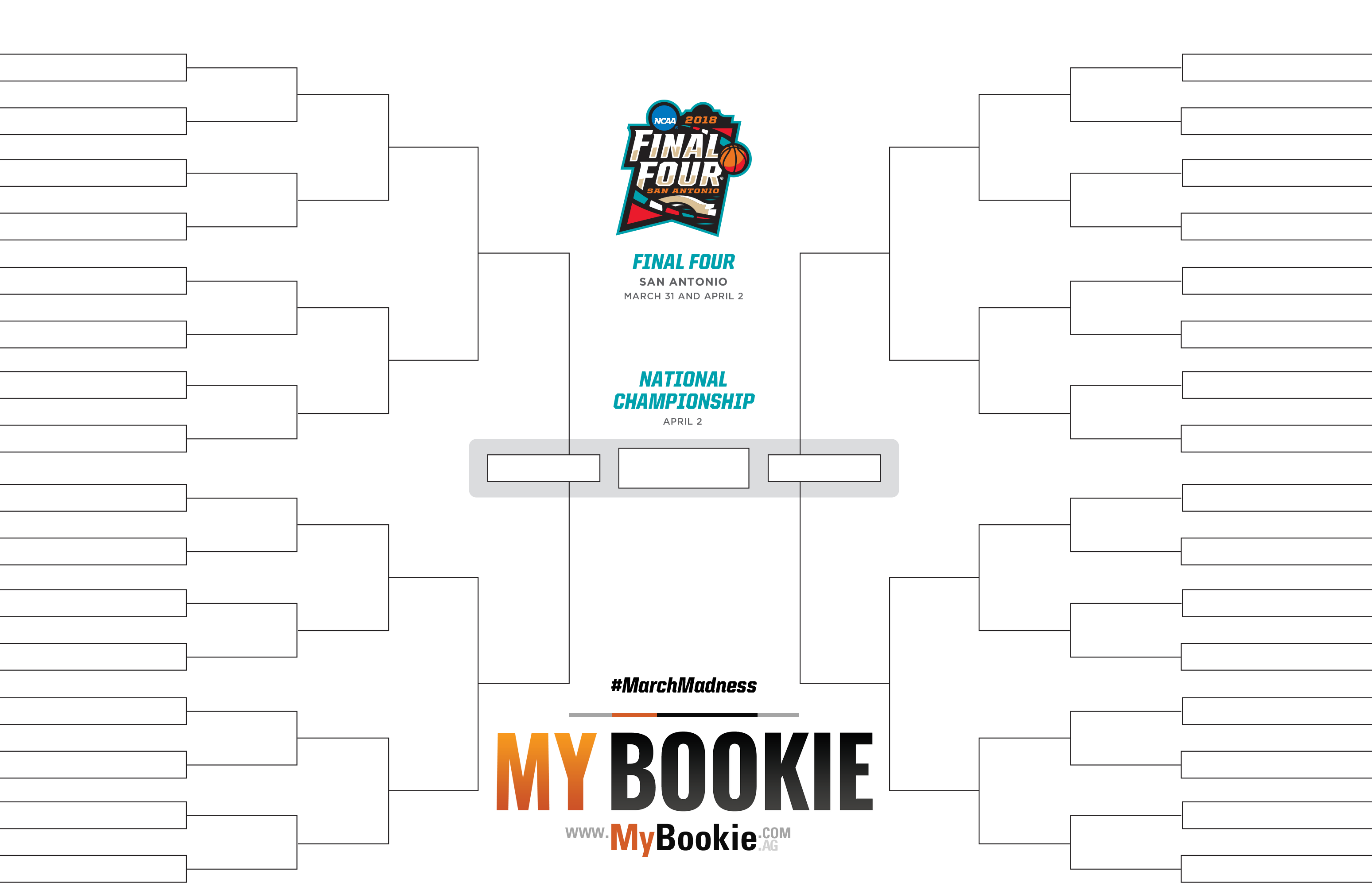 March Madness 2018 Printable NCAA Bracket | MyBookie Sportsbook