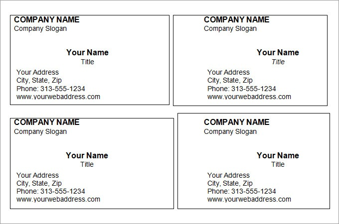 Printable Business Card Template Free Fresh