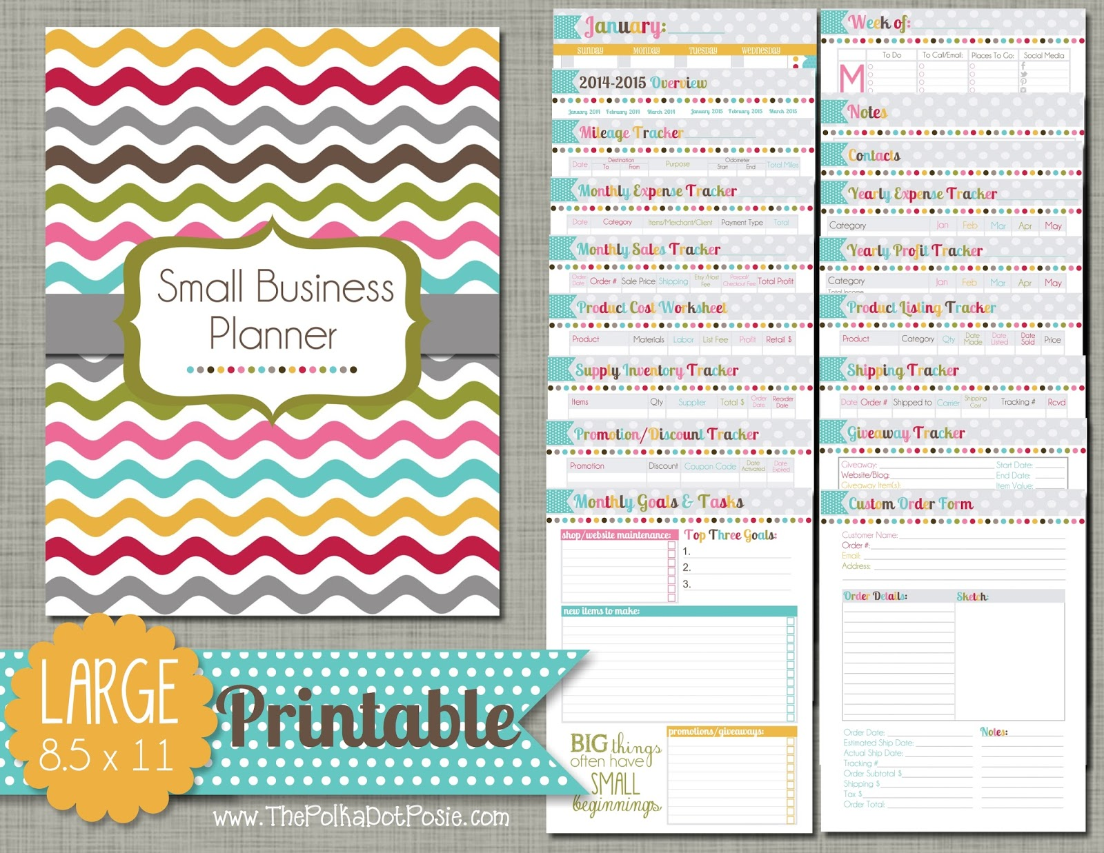 FREE Blog and Business Planner Printable — Life by Aileen