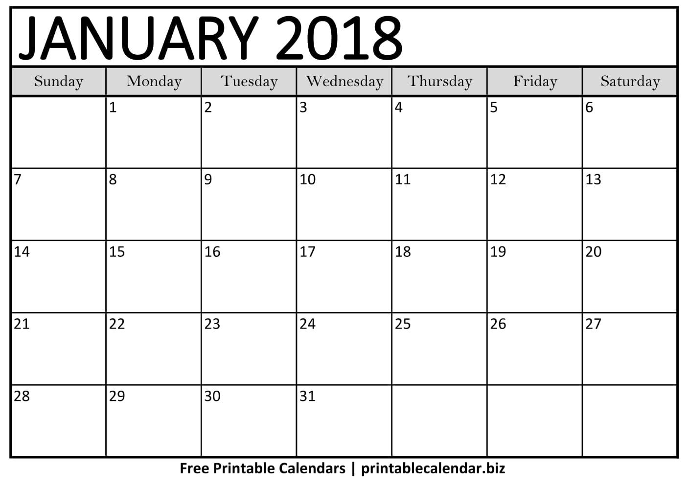 Printable Calendar Templates January Calendar Best Calendars