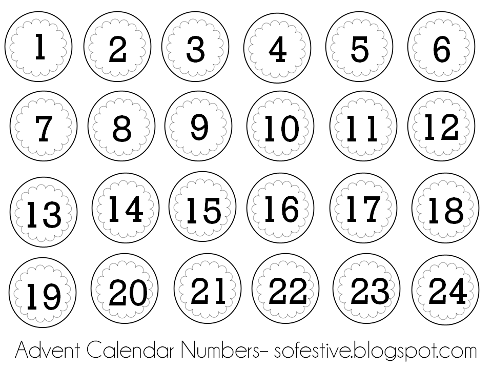 Advent numbers printable   Active Discount