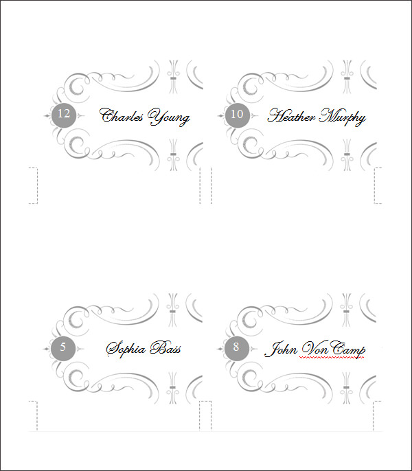 free place card templates   Demire.agdiffusion.com