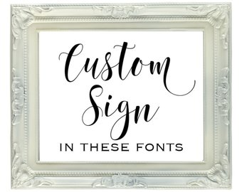 Custom Printable Gold Foil Sign DIGITAL FILE 8x10 Printable