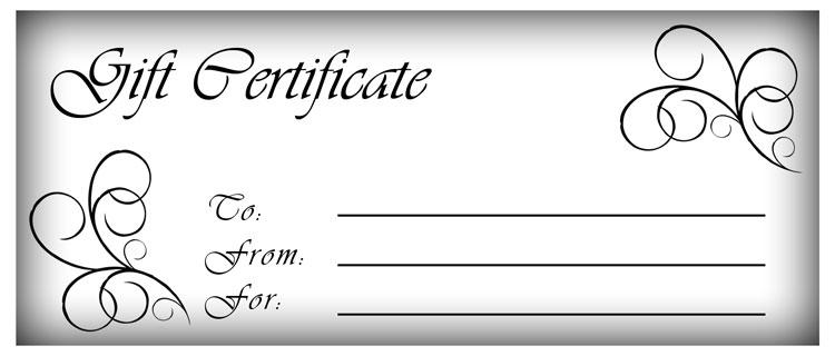 Blank Gift Certificates   Blogosfear.org