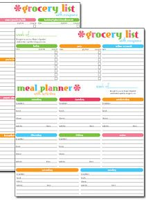 Free printable meal planner & grocery list | Jenallyson   The