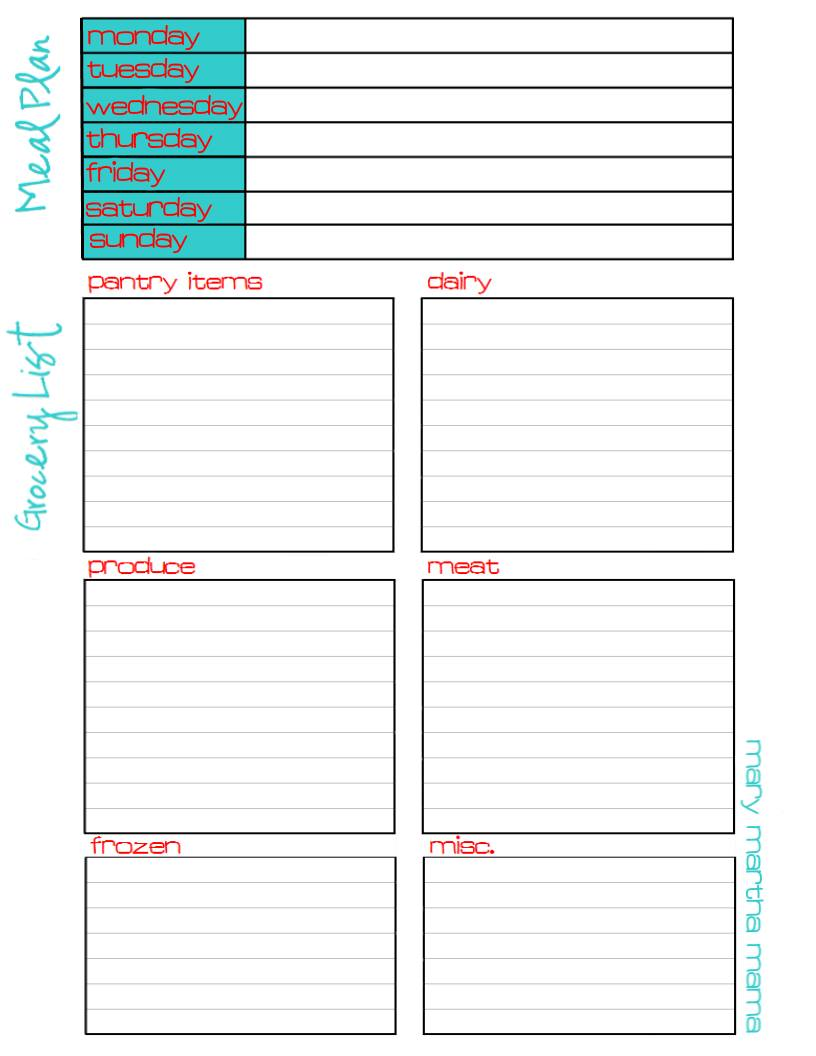 17 best GROCERY LIST PRINTABLE images on Pinterest | Manualidades