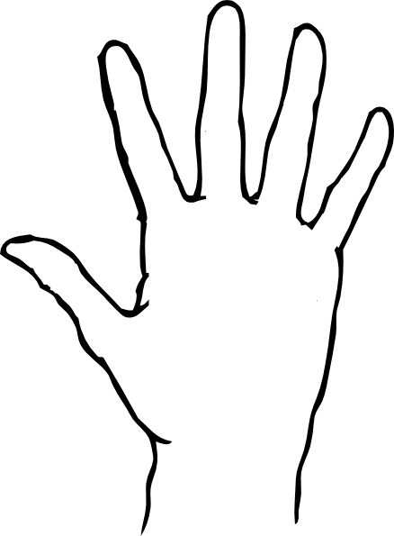 Hand Outline Printable Group with 39+ items