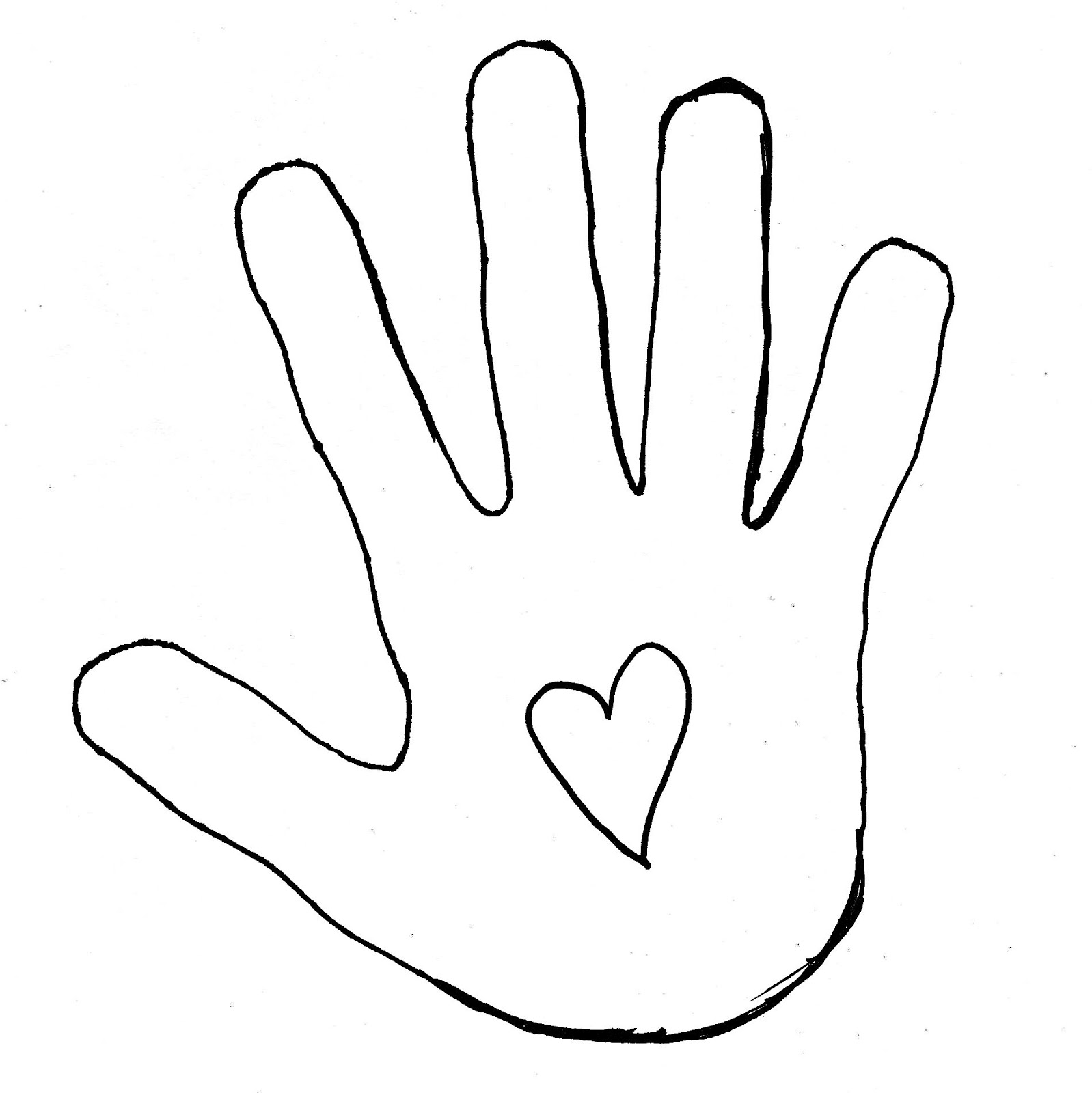 Hand Outline Template Printable | Clipart Panda   Free Clipart Images