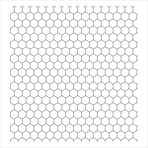 printable hexagon graph paper   zrom.tk