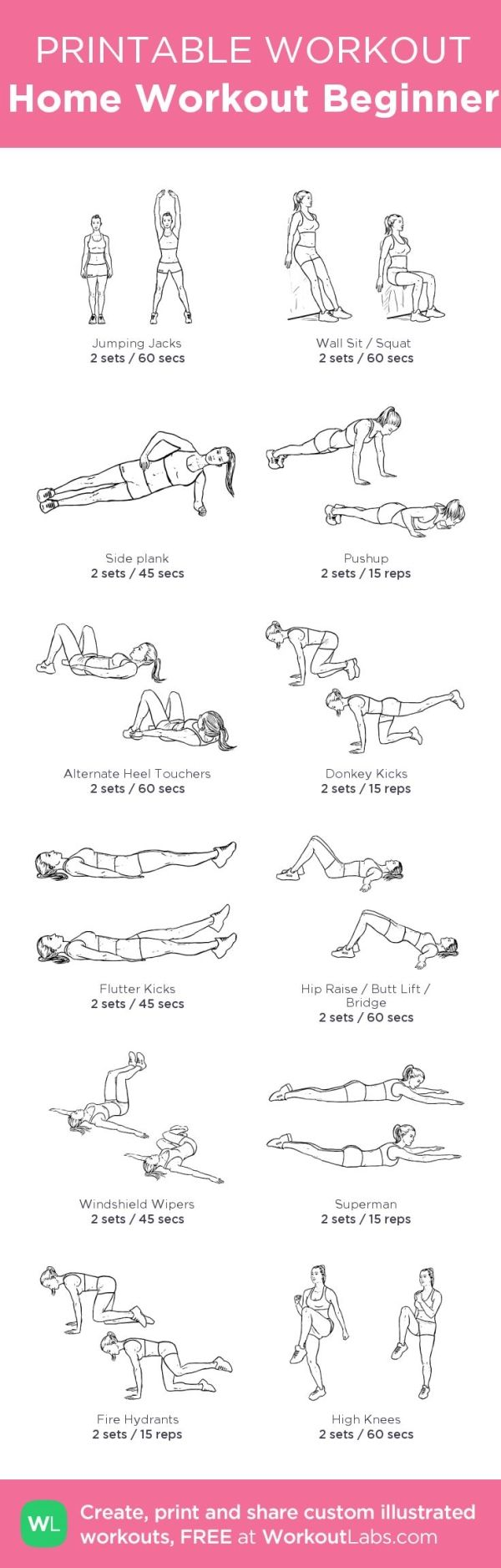 Printable Bodyweight Workouts | POPSUGAR Fitness