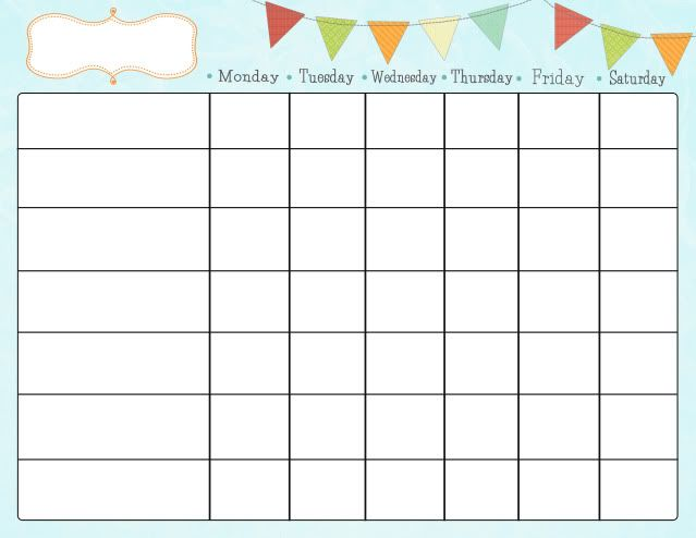 Free Printable Chore Charts for Kids | Free Chore Charts for Kids