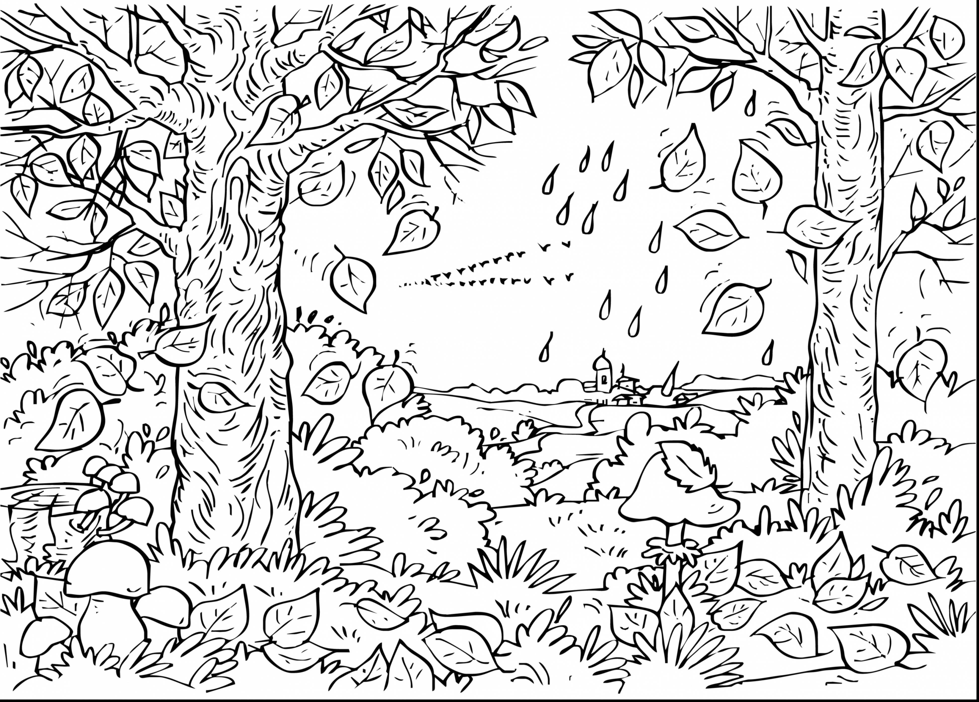 Printable Landscape Coloring Pages For Adults 2018 | Printable