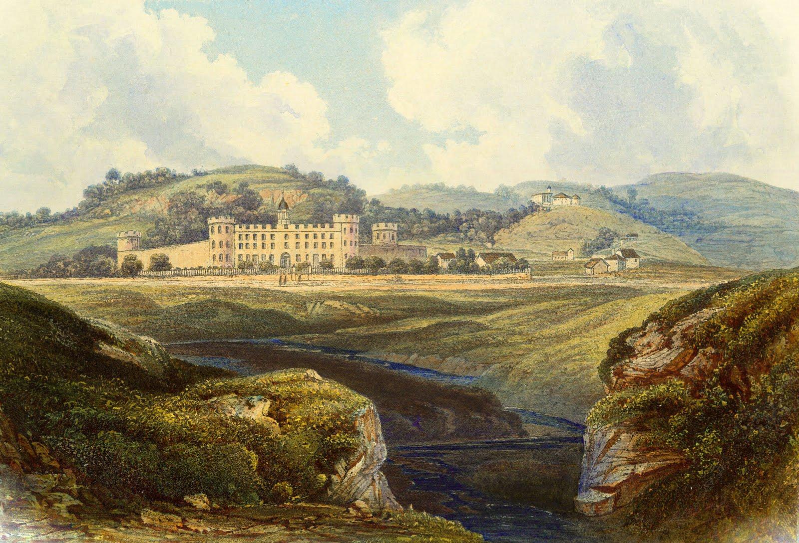 Vintage Printable Image   Landscape Scene with Castle   The