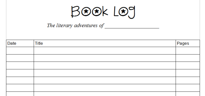 Book Log Pages – Skip the School