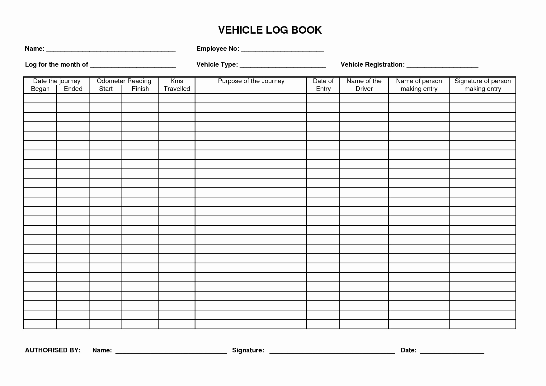 Mileage Log Book Beautiful Printable Mileage Log Template Generous