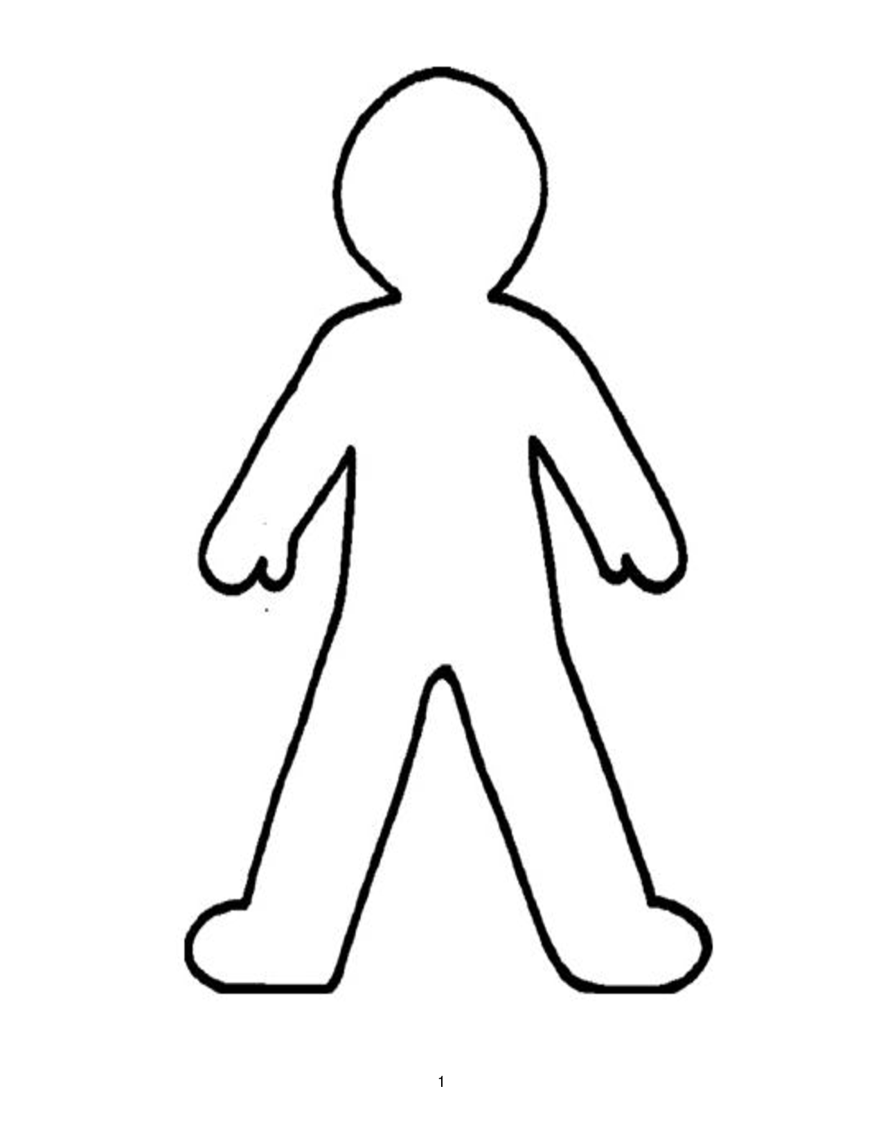 Doll Outline Template   ClipArt Best | printable | Pinterest