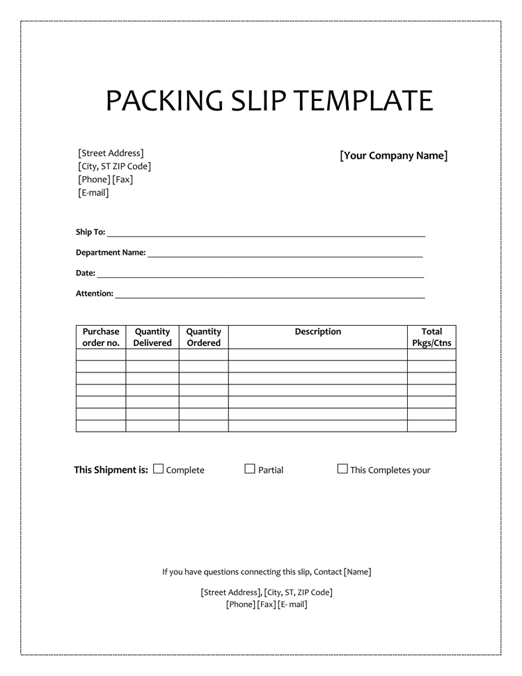 8+ Free Packing Slip Templates – Download Free Examples for PDF