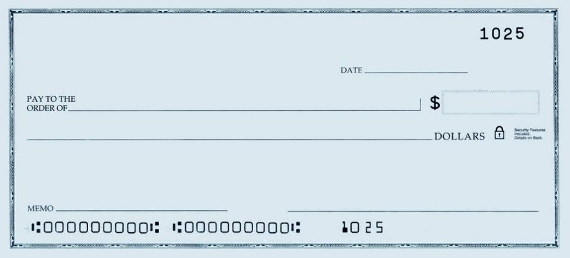 Printable Personal Blank Check Template | Check Blank Check Blank