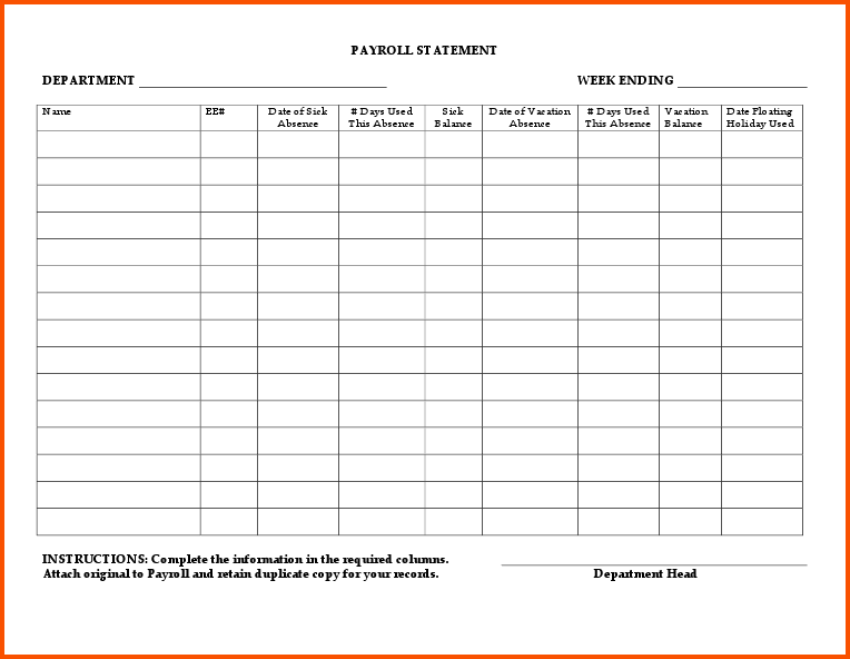 19 Printable Pay Stub Template Forms   Fillable Samples in PDF