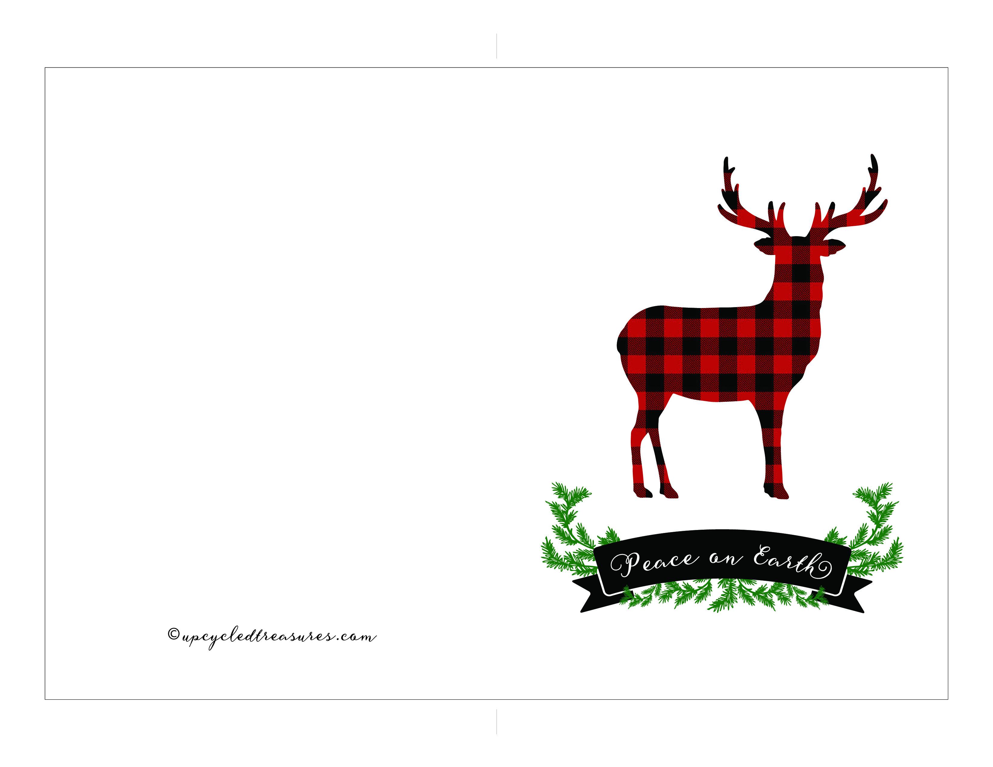 FREE Printable Holiday Cards | Mountain Modern Life