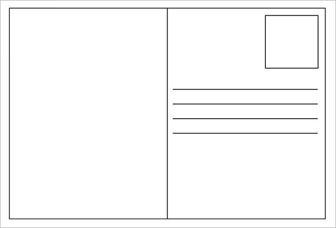 Postcard Template Free Amazing Postcard Template Free Download