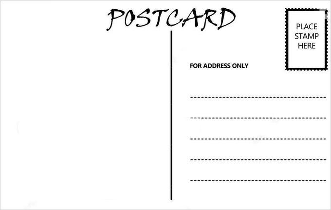 postcard template   free printable … | Art ideas | Pinte…
