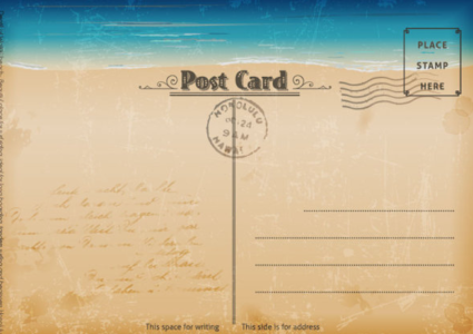 postcard template   free printable … | Art ideas | Pinte…