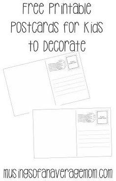 Free postcard templates | Blank printable postcards | Kirjoita