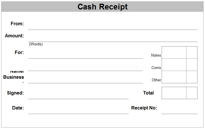 Free Receipt Template | Rent Receipt and Cash Receipt Forms