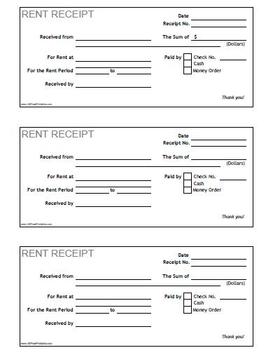 Blank Rent Receipts Blank Rent Receipt Oklmindsproutco Dtk