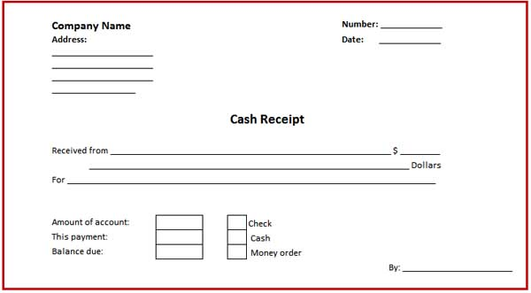Free Receipt Template | Rent Receipt and Cash Receipt Forms