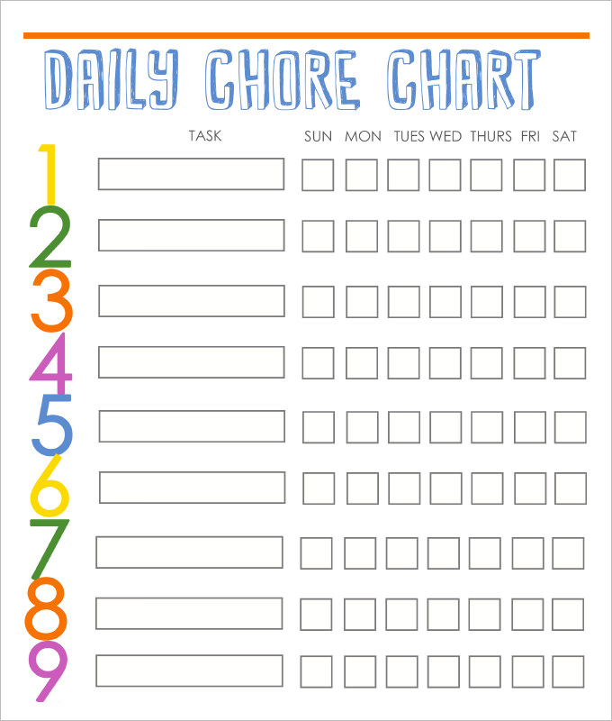 Daily Responsibilities Chart for Kids! FREE Printable to Help