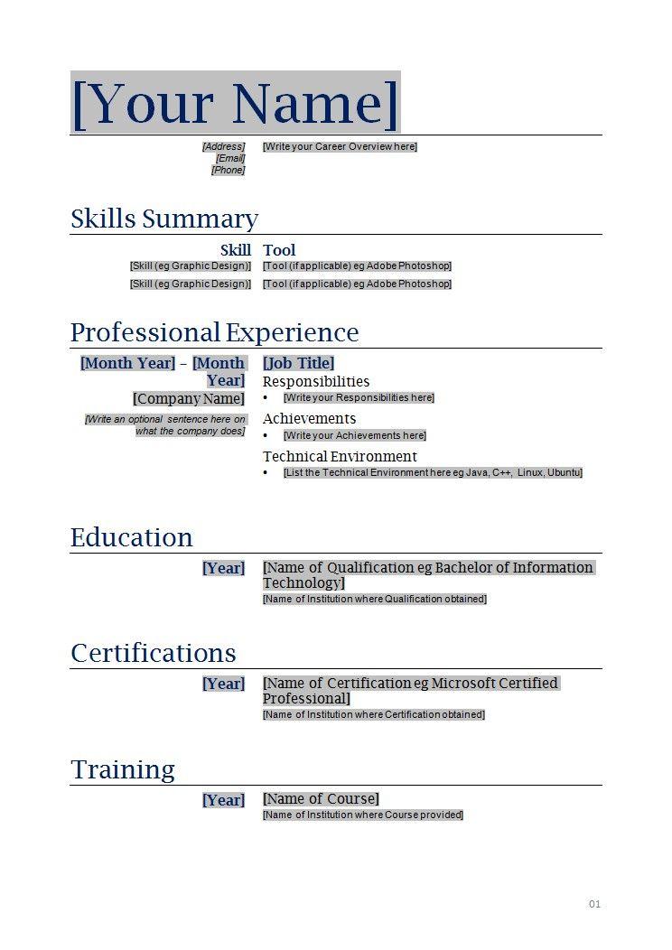 Resume Templates Free Printable Template Editable #56315655577