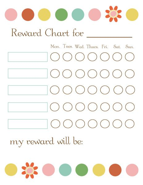 Here are some brilliant free printable reward charts that we have