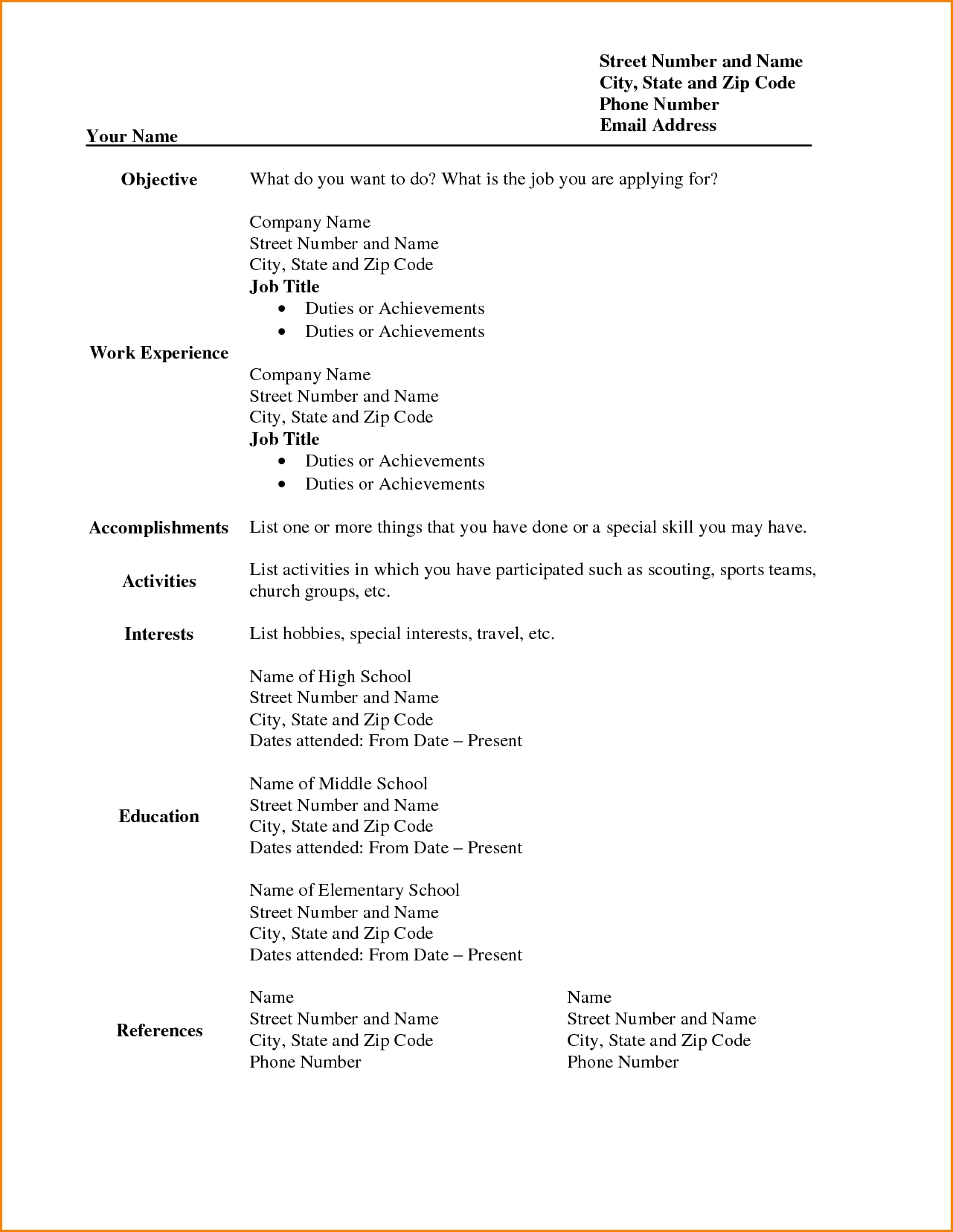 Free Sample Resume Formats Fancy Templates 5   tjfs journal.org