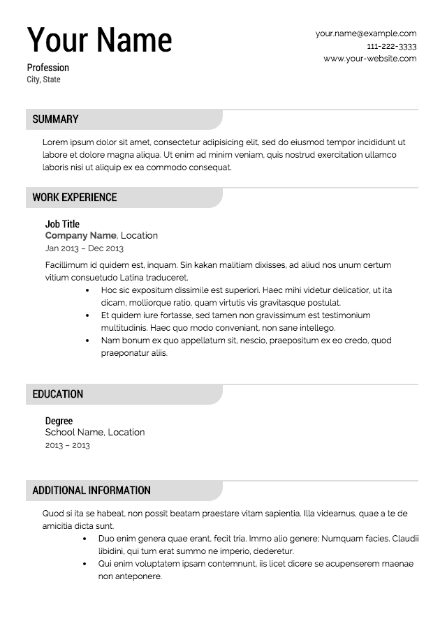 Resume Resume Template 1201 | marshall gparchitects