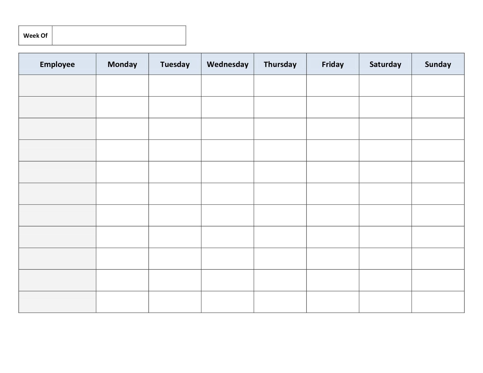 FREE Printable Work Schedule | Ideas | Pinterest | Schedule, Free