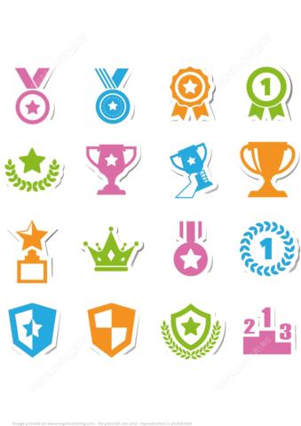 Printable Reward Stickers for Kids   Free Printable Papercraft