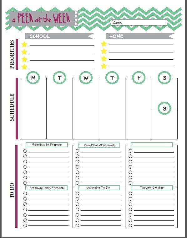 Printable Teachers Planner | shop fresh